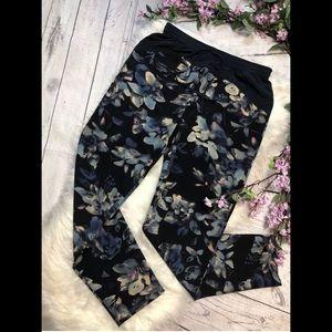 {Rebecca Taylor} floral jogger slacks